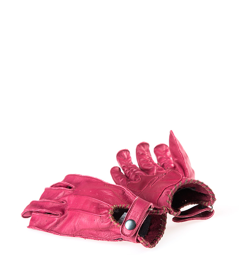 Comprar By City Guantes de piel Second Skin Lady granate
