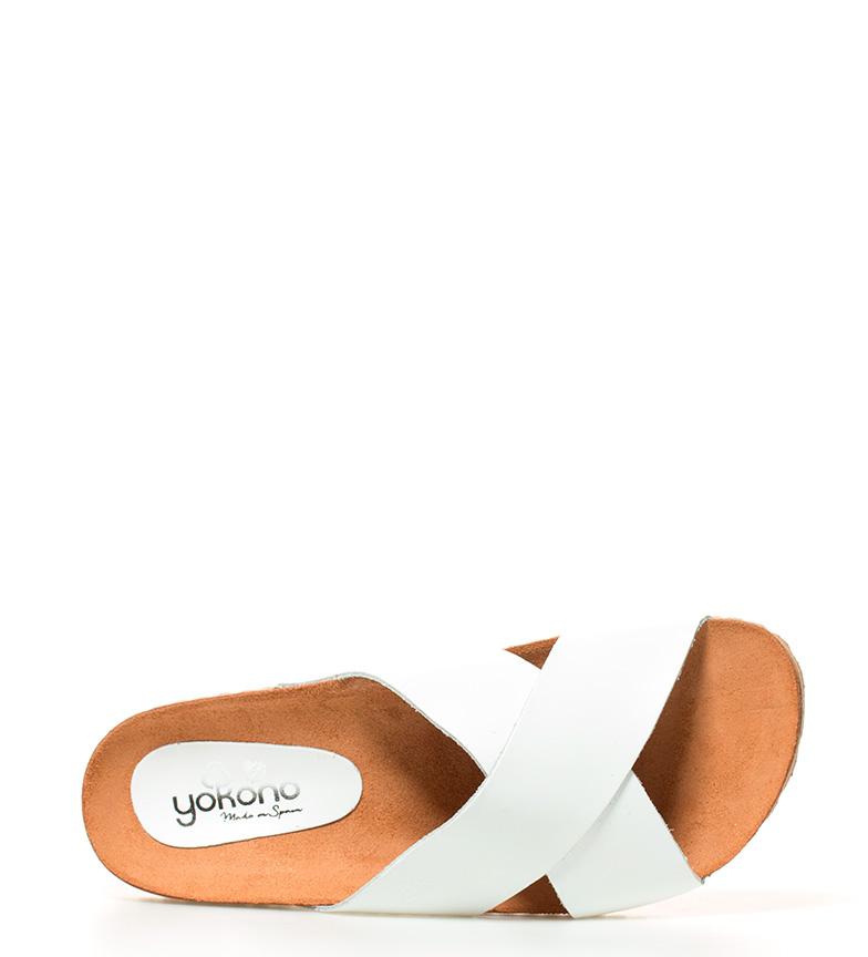 de piel Cuba Yokono piel Cuba blanco Sandalias de Yokono Sandalias x1q47Cgw1