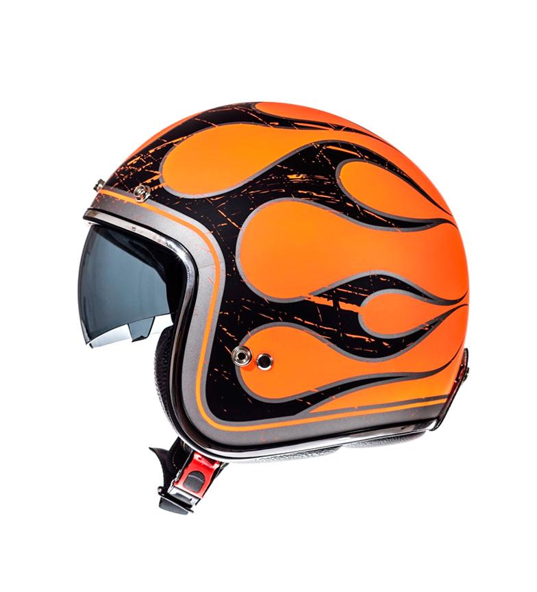 Comprar MT Helmets Casco jet MT Le Mans SV Flaming naranja