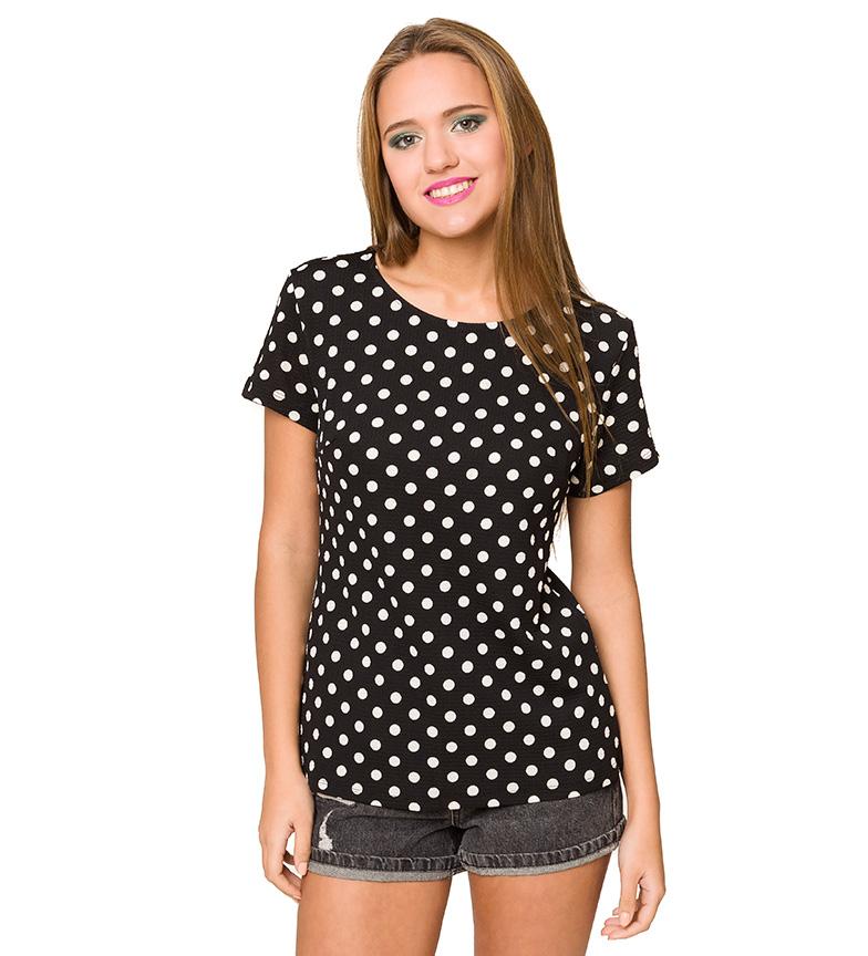 Comprar Azura T-shirt nera a pois