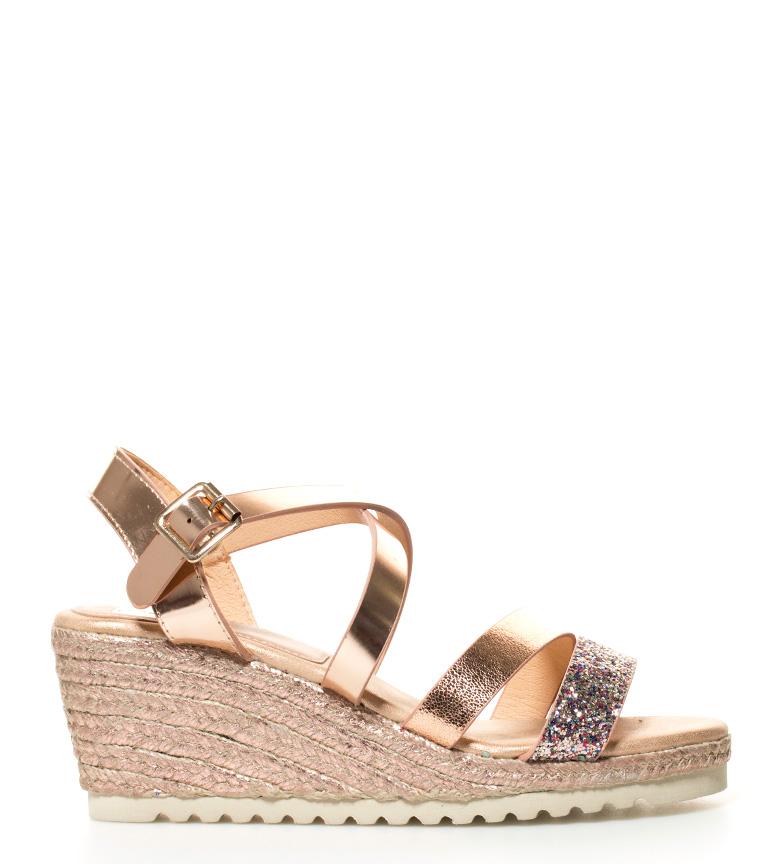 Comprar Elio Berhanyer Benicia bronze sandals - Wedge height: 7,5cm-