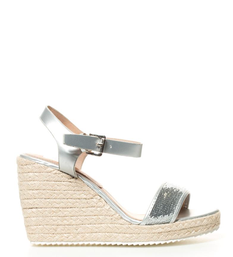 Comprar Elio Berhanyer Garbiñe silver sandals-Wedge height: 10cm-