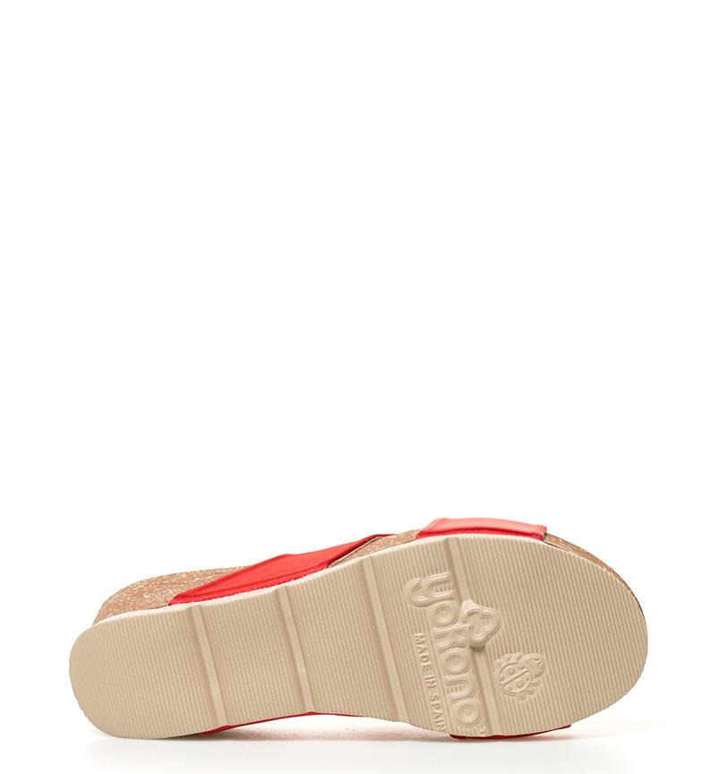 Altura Sandalias Yokono Bari 5cm br rojo cuña br 6 dUwXW4xqwB