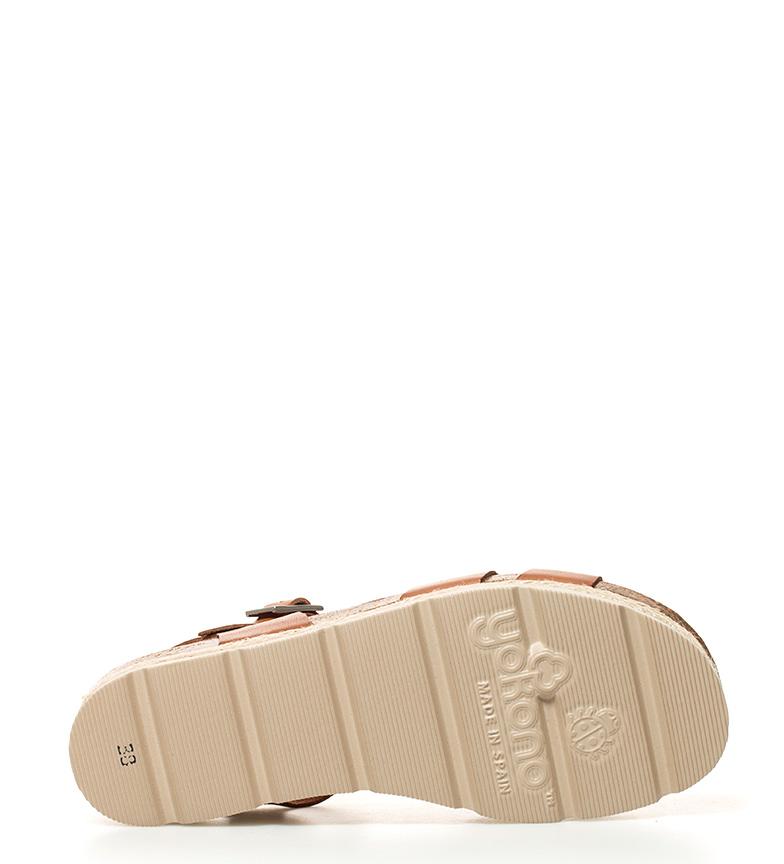 Yokono de Java br br 3cm beige Sandalias plataforma piel Altura wxqr51xP