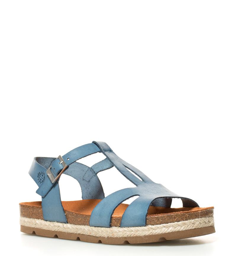Sandalias plataforma Altura br Yokono Java br 3cm azul de piel dAx08q