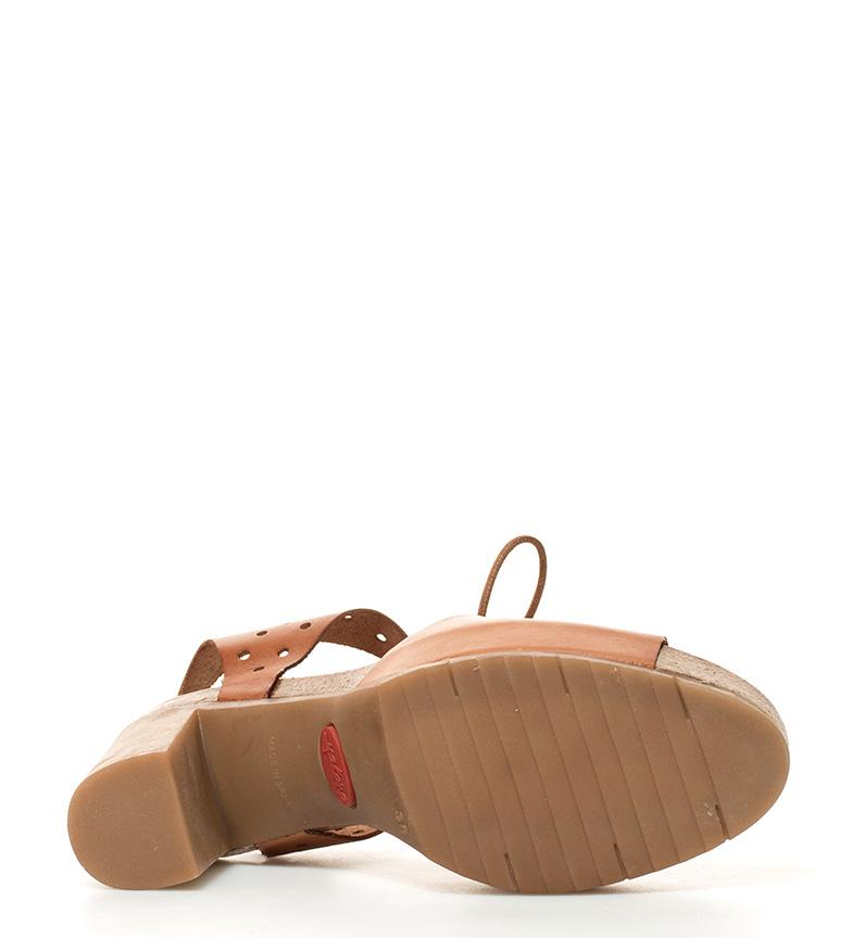 Yokono Malibu Brunt Skinn Sandaler Hæl Høyde: 10cm reell for salg oeHdFhErs