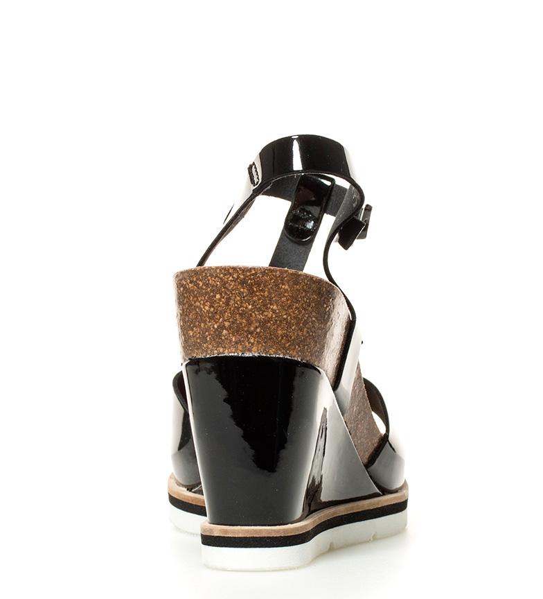 Yokono Sandalias Simi negro Altura cuña: 10,5cm
