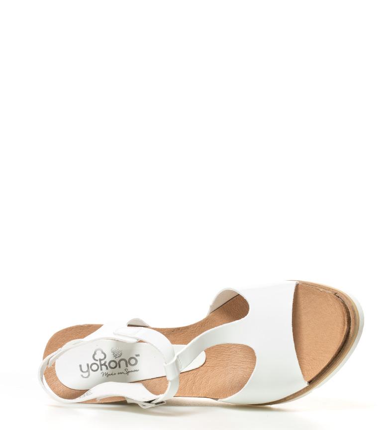 Yokono Sandalias Simi blanco Altura cuña: 10,5cm