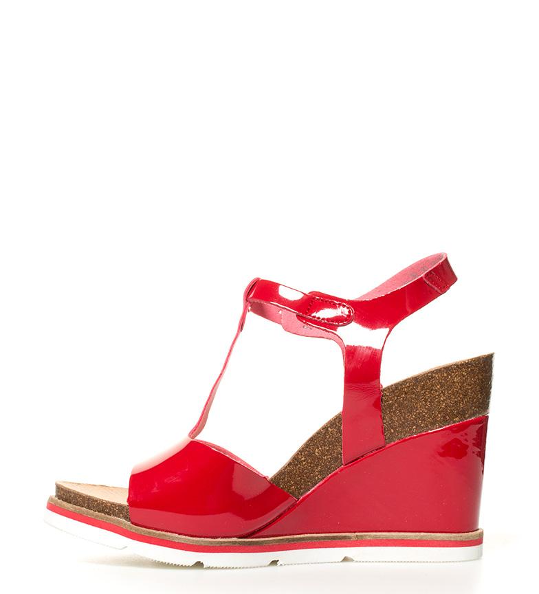 Sandalias 5cm 10 br Altura Simi cuña Yokono rojo br vqFfdxwO