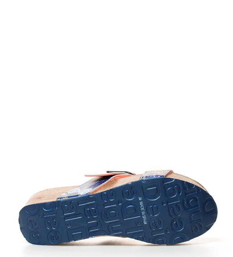 br azul Denim Sandalias cuña br Desigual Altura 7cm Bio3 wqBanPxvX