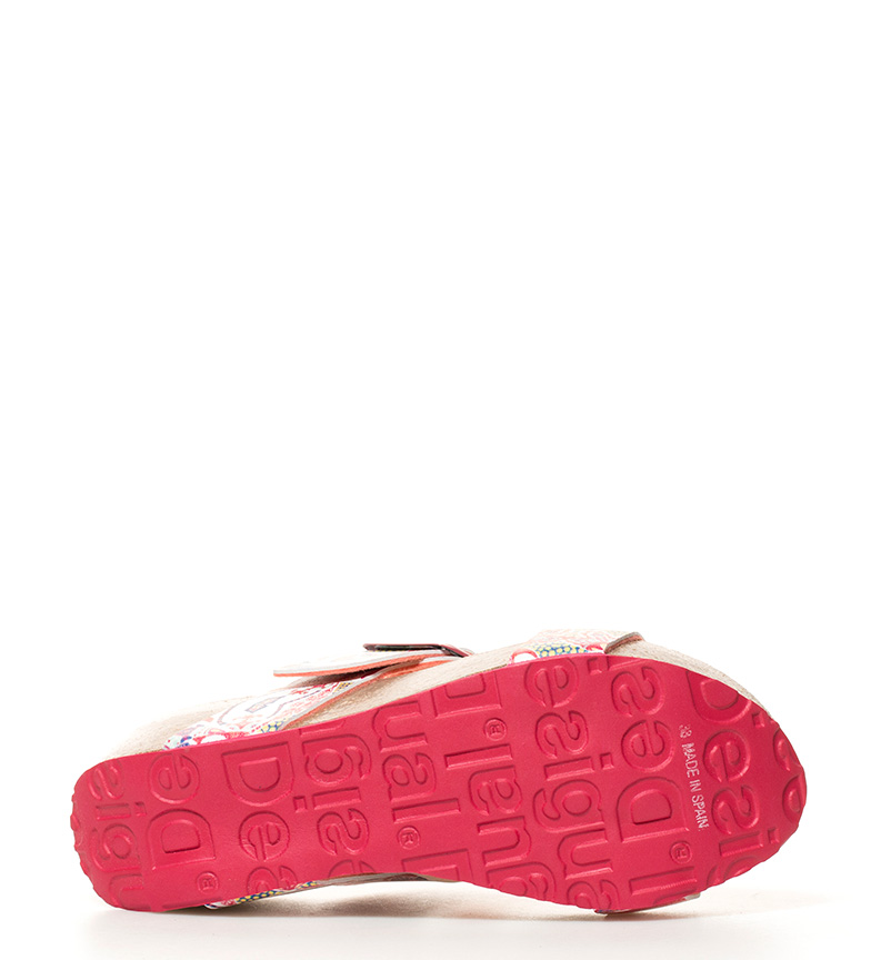 Sandalias rosa Altura br Bio3 cuña 7cm br Hearts Desigual PcWn6P