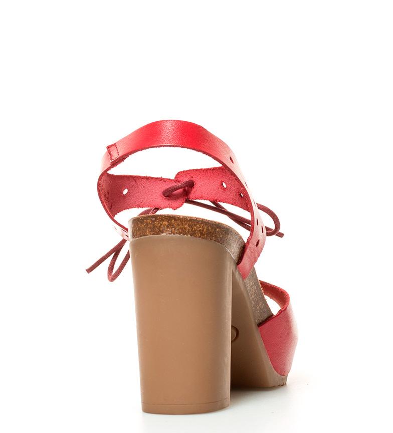 br de Sandalias rojo tacón br Yokono 10cm Malibu Altura piel AwRHqYYU