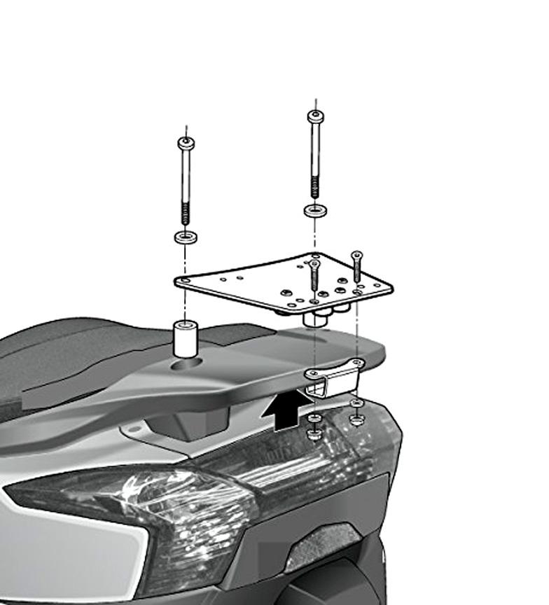 Comprar Shad Sistema de fixação KYMCO Superdink / Downt. 125 '09