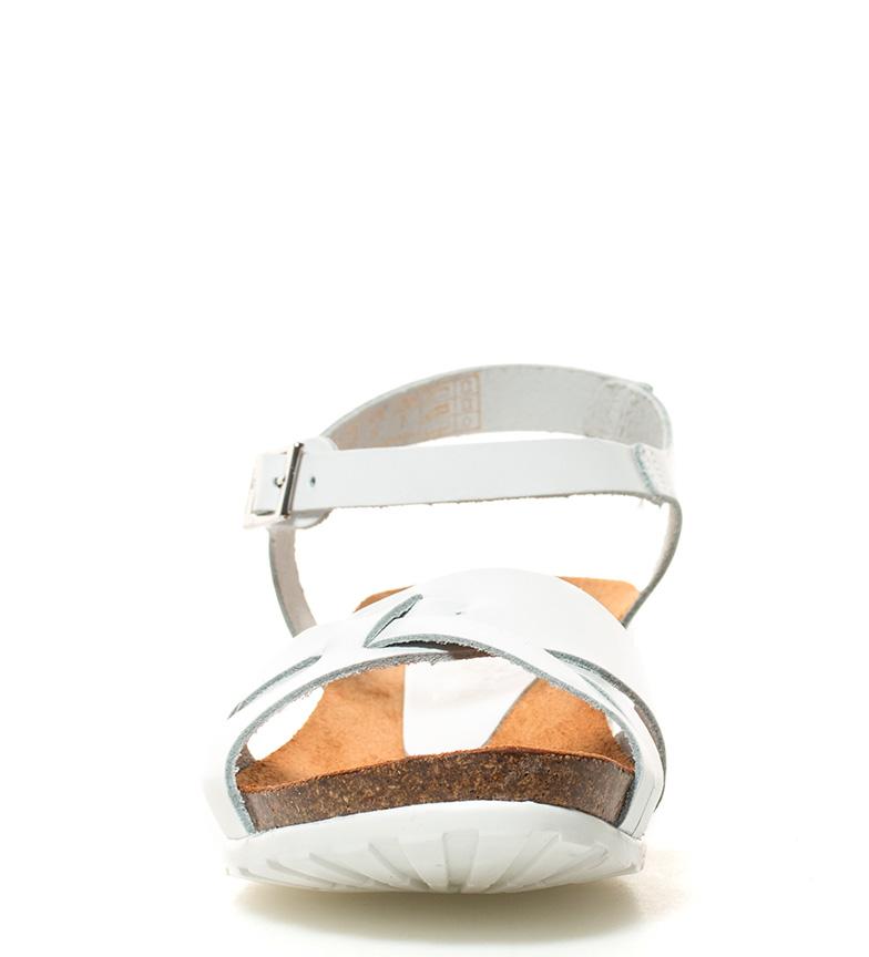 4cm blanco Yokono Sandalias Altura de br piel cuña Capri br z4z1wqB