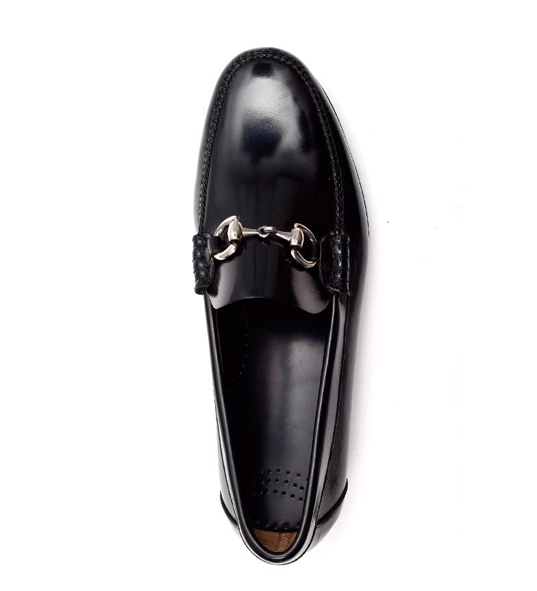 G&P Cobbler Mocasines de piel Tanner negro