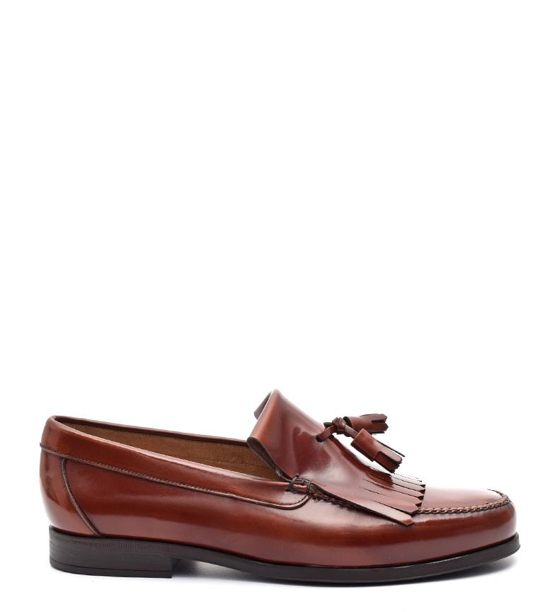 Comprar G&P Cobbler Hunter brown leather loafers