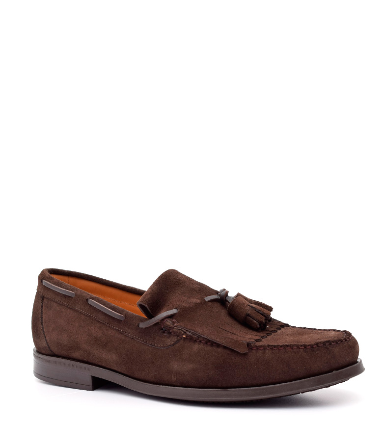 G&P Cobbler Mocasines de piel Harrison chocolate