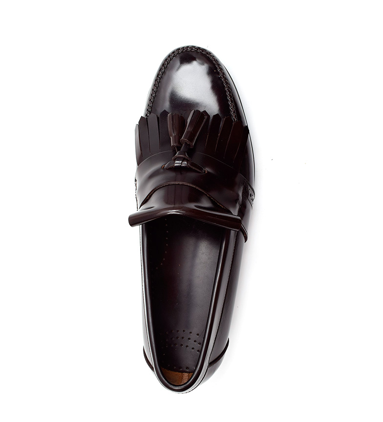 G&P Cobbler Mocasines de piel Steve chocolate