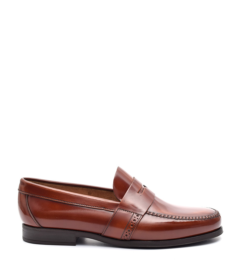 G&P Cobbler Mocasines de piel Kenner marrón