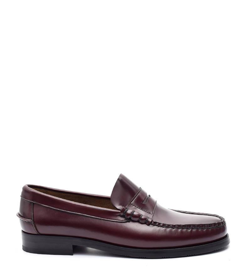 G&P Cobbler Mocasines de piel Arley burdeos