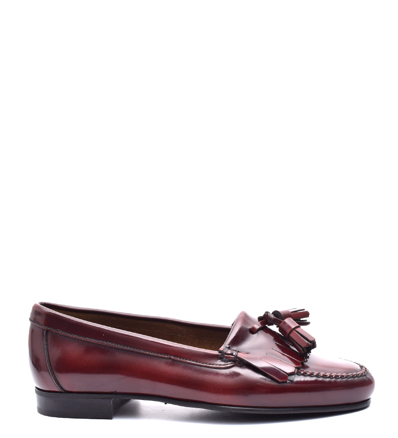 Comprar G&P Cobbler Coraline Bordeaux leather moccasins