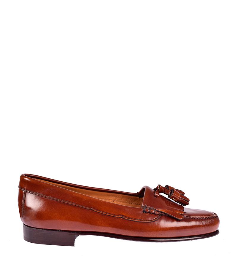 G&P Cobbler Mocasines de piel Addison marrón