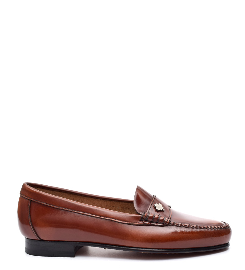 Comprar G&P Cobbler Margie brown leather loafers