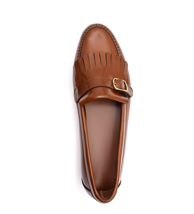 amp;P marrón Mocasines de Cobbler piel G Carrie 4UwvCnHHxq