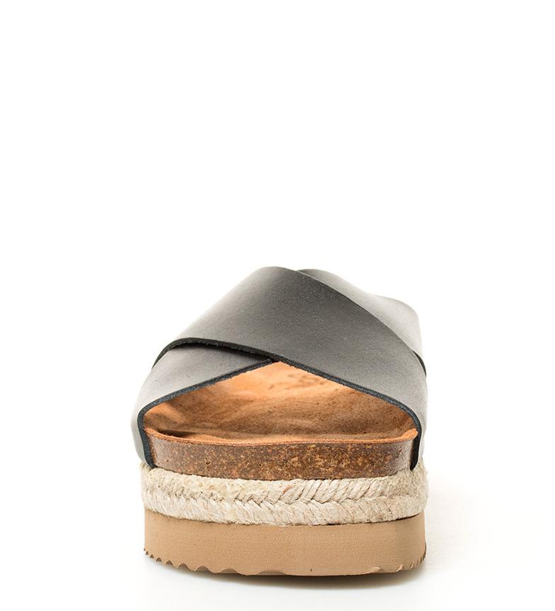 plataforma br Itaca Altura Sandalias de piel 4 negro Yokono 5cm br wnB8ZqYxB4