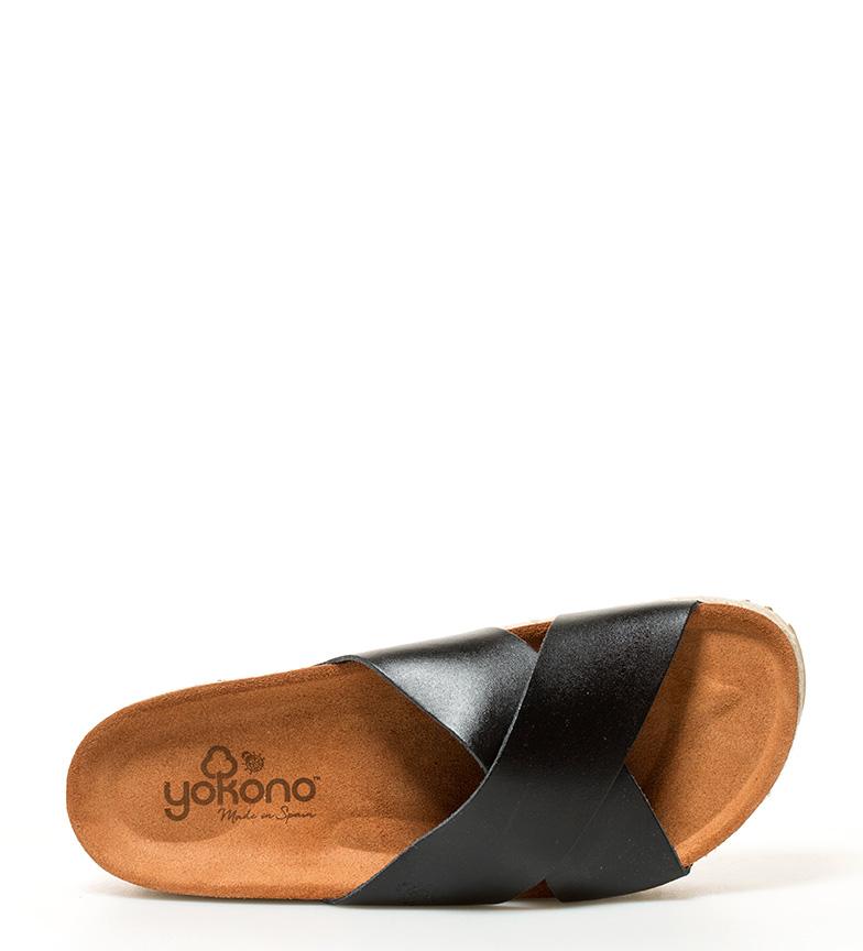 Altura piel Sandalias plataforma br 5cm Itaca negro Yokono de 4 br awgq6nSRW