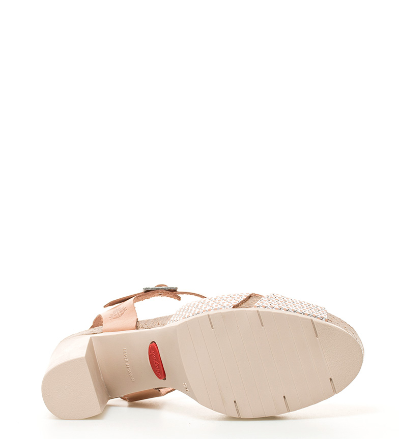 de piel marrón br 001 Malibu tacón Sandalias br Altura plataforma 10cm Yokono 4fOqwS4