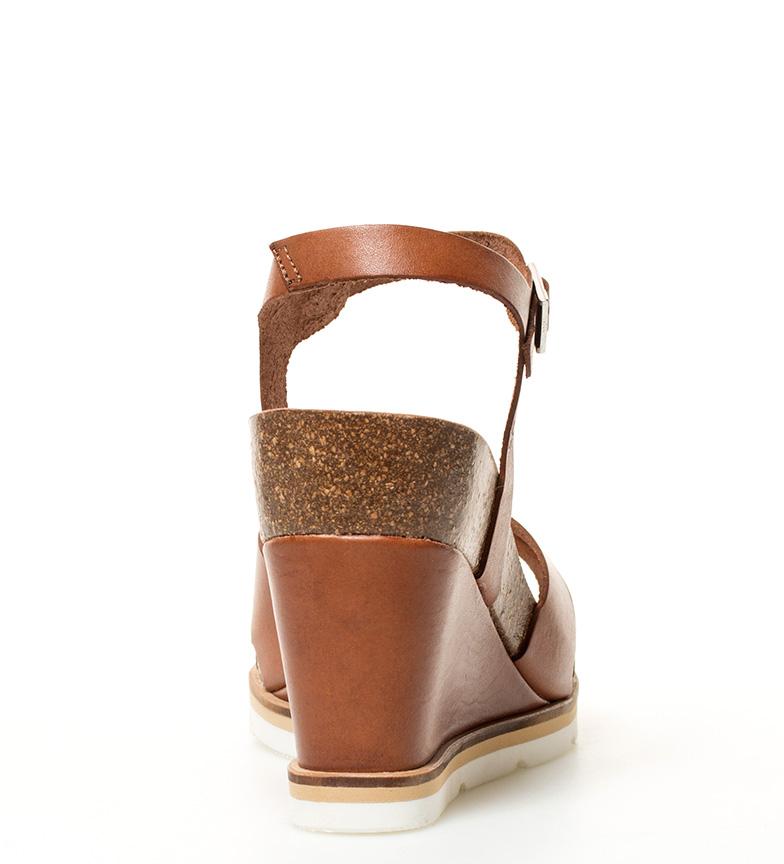 Yokono Altura Sandalias Simi marrón 001 cuña 5cm 10 piel de br br rAr81wFxq