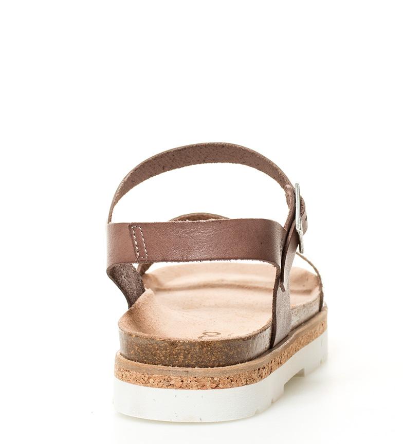 Yokono Sandalias de piel Tupai 001 taupe Altura suela: 3cm