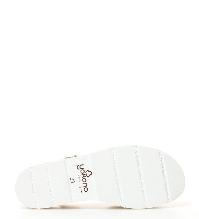 Yokono blanco Sandalias Tupai Yokono Sandalias de piel 003 48r4SwWq