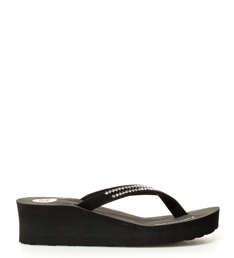 Flip Aroma negro br br Altura cuña flop 5cm Gioseppo gqdwPxHH