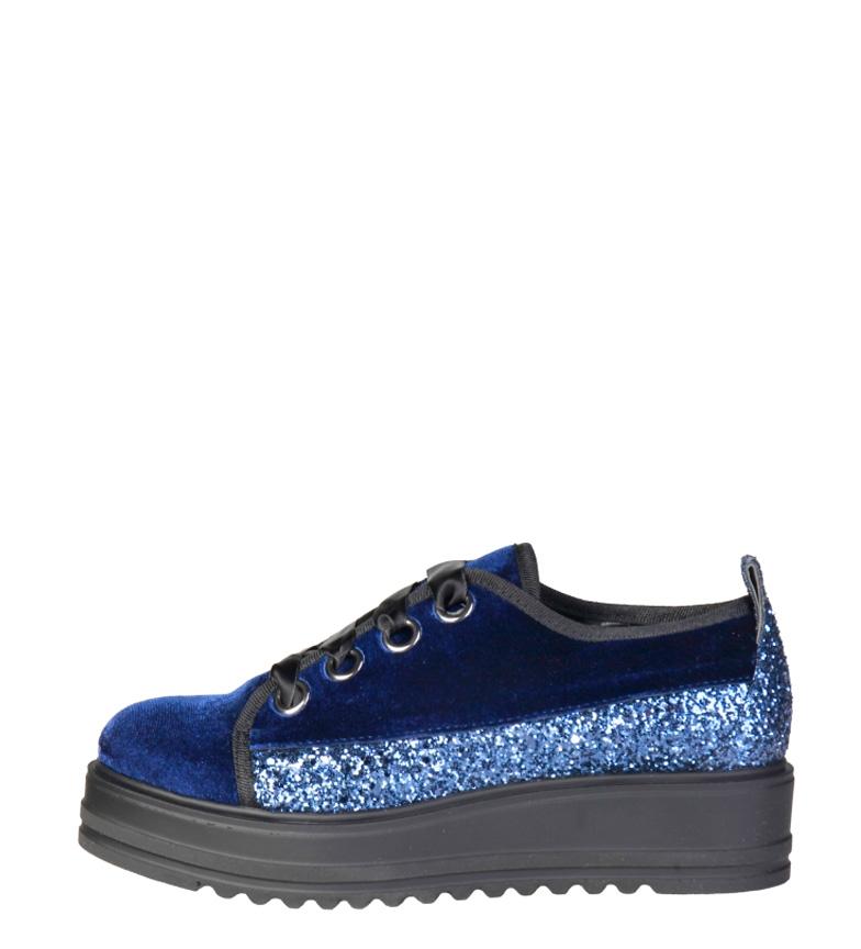 Comprar Ana Lublin Ewa scarpe blu piattaforma -Altezza: 4,5cm-