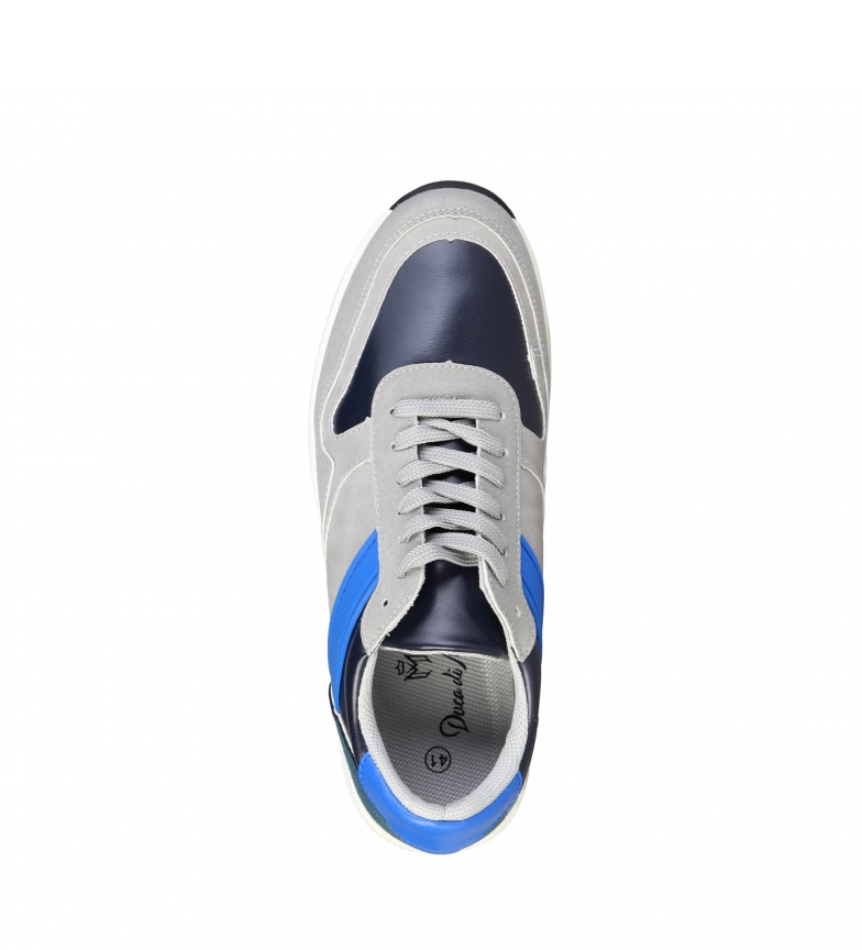 Di Sneakers Blu Derek Stringhe Uomo Grigio Basso Casual Duca Morrone Nero aqwCdTT