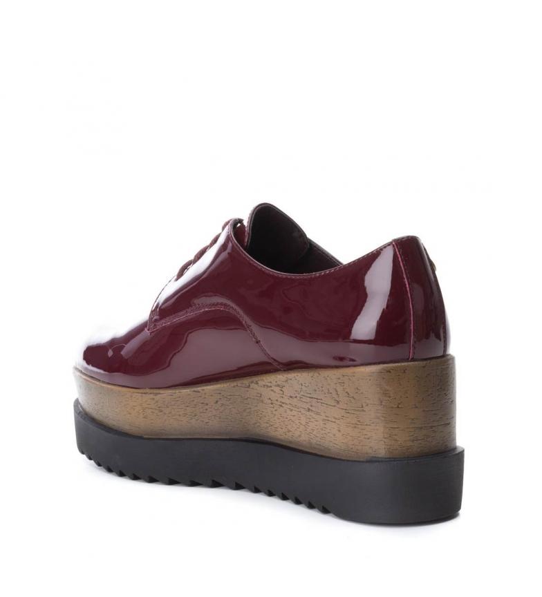 Zapato Piel Plataforma7cm De Burdeosaltura Carmela trxQhCosdB