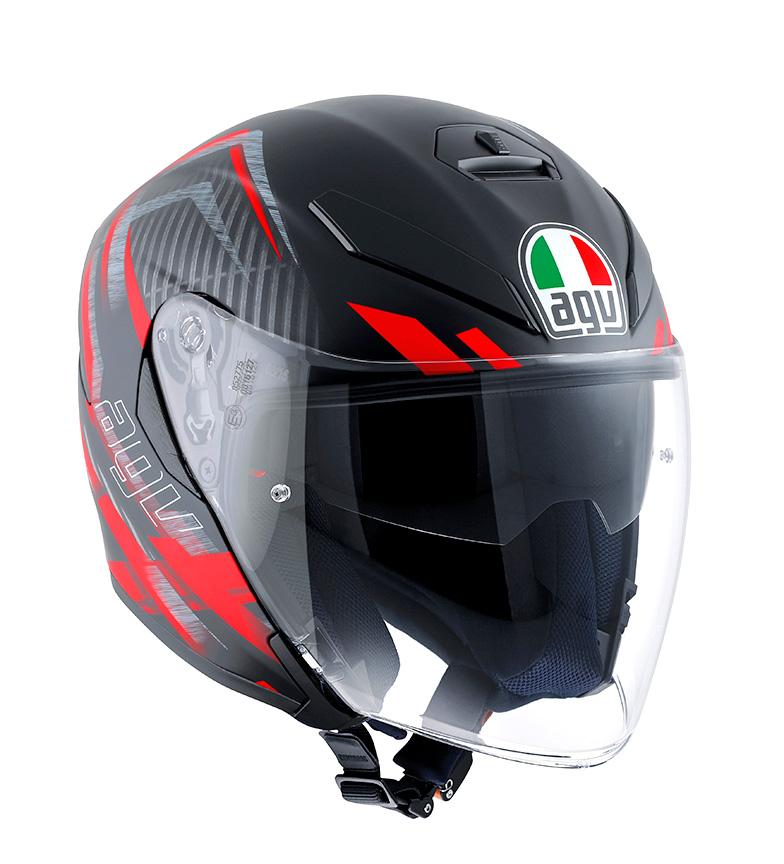 Comprar Agv Helmet K-5 Jet urban hunter black matt / red