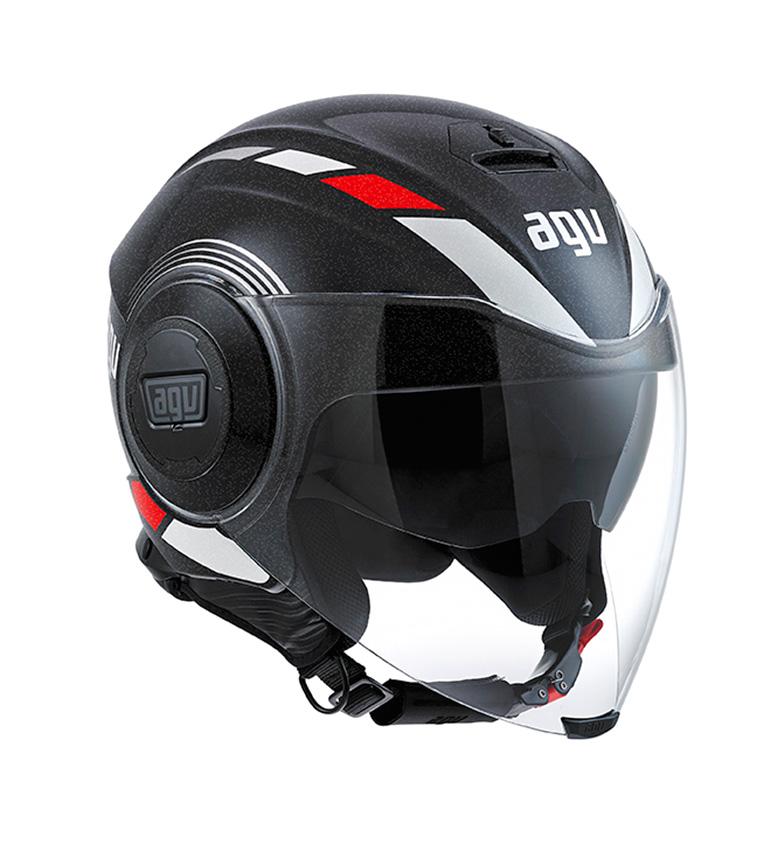 Comprar Agv Jet helmet Fluid equalizer black / gray