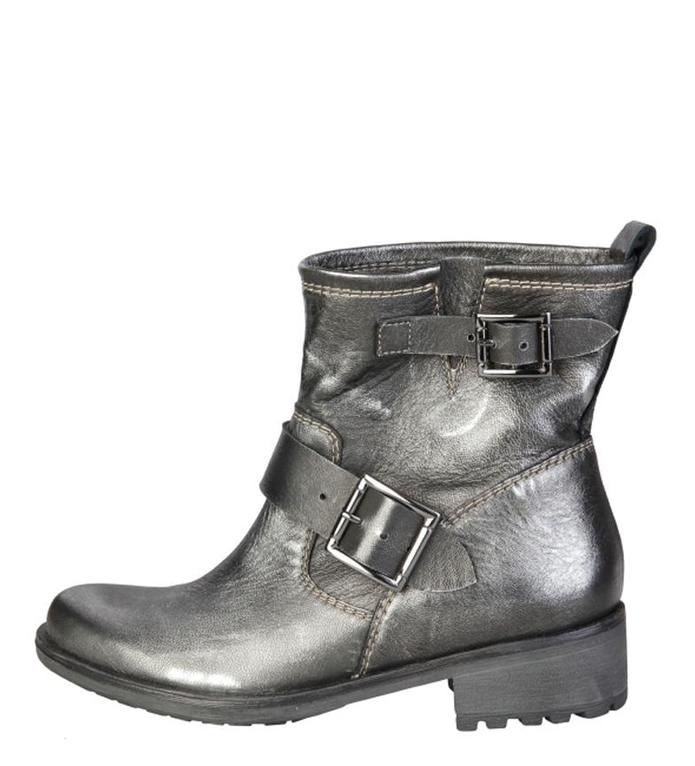 Comprar Ana Lublin Carin stivali di pelle argento