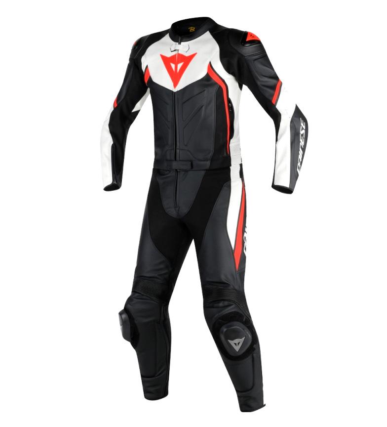 Comprar Dainese Terno de couro Avro D2 Suit duas peças preto, branco, vermelho