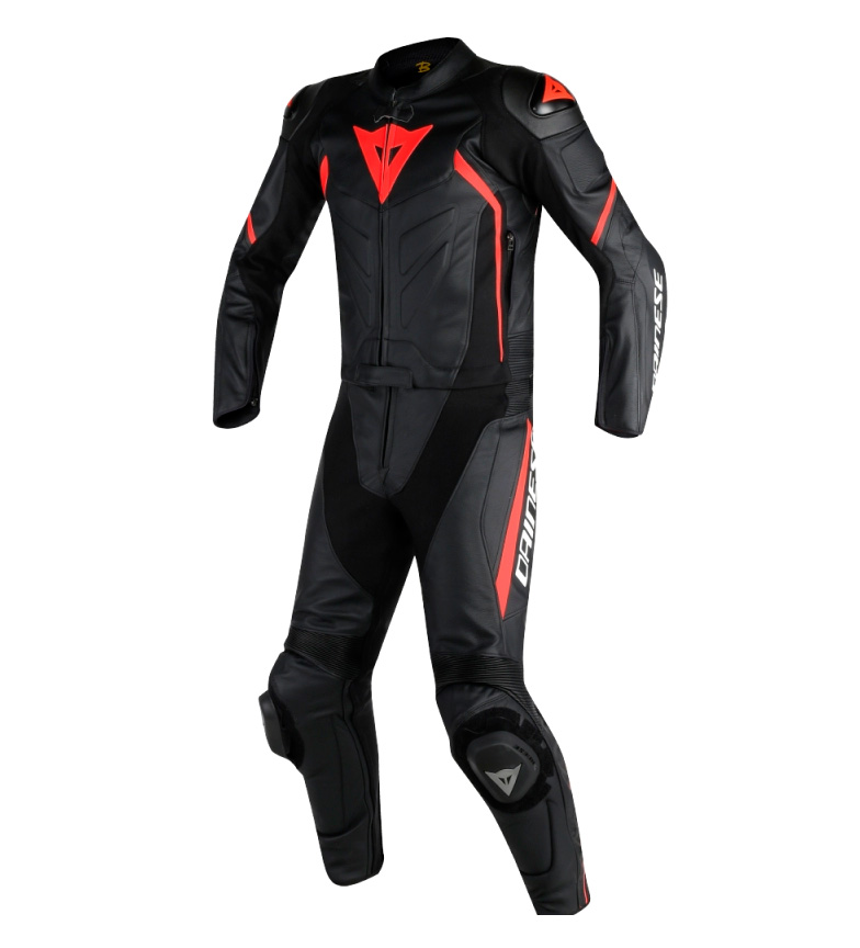 Comprar Dainese Leather suit Avro D2 Suit two pieces black, red