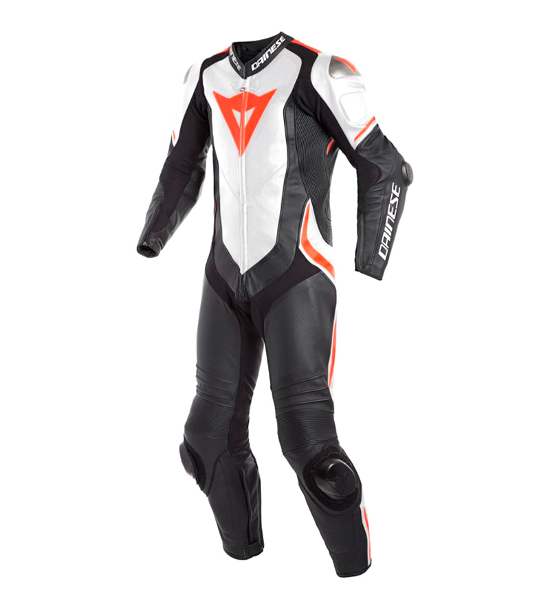 Comprar Dainese Laguna Seca 4 leather jumpsuit 1 piece Perforated black, white, red