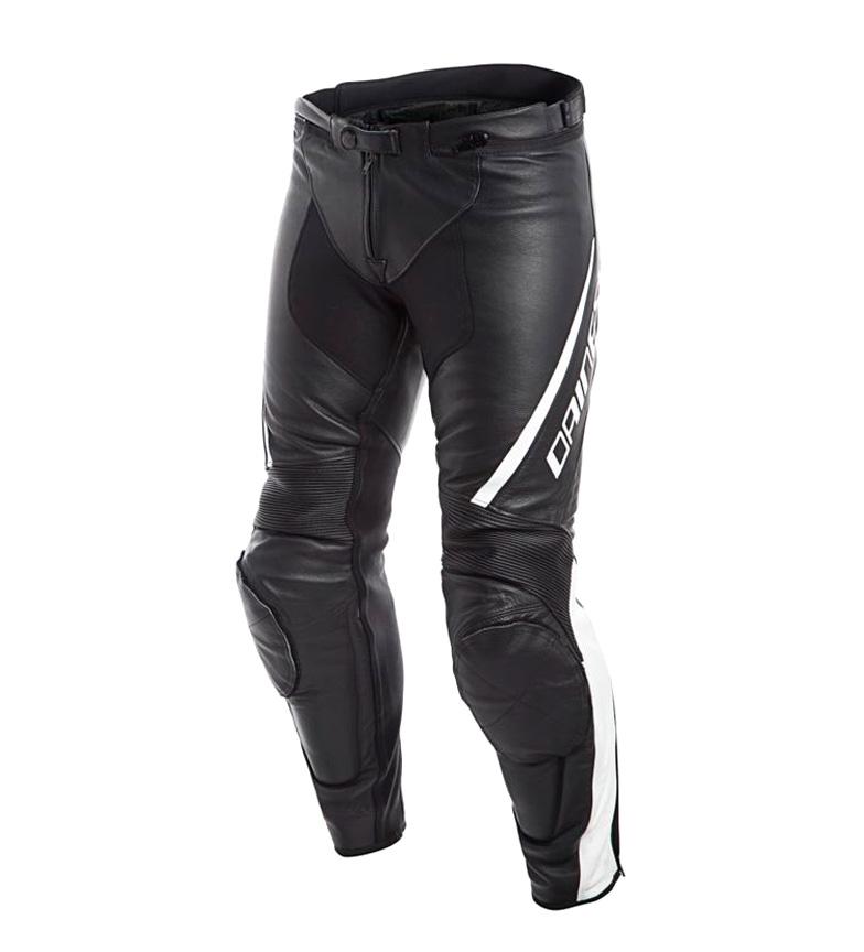 Comprar Dainese Pantalones de piel Assen negro, blanco