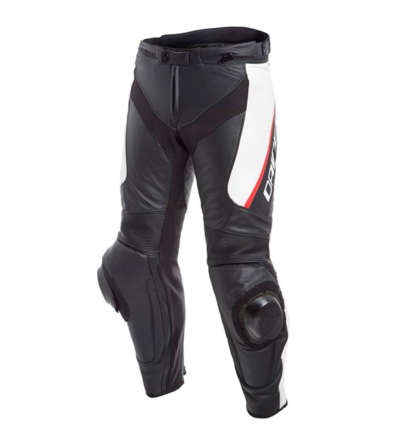 Comprar Dainese Delta 3 pantalon en cuir noir, blanc, rouge
