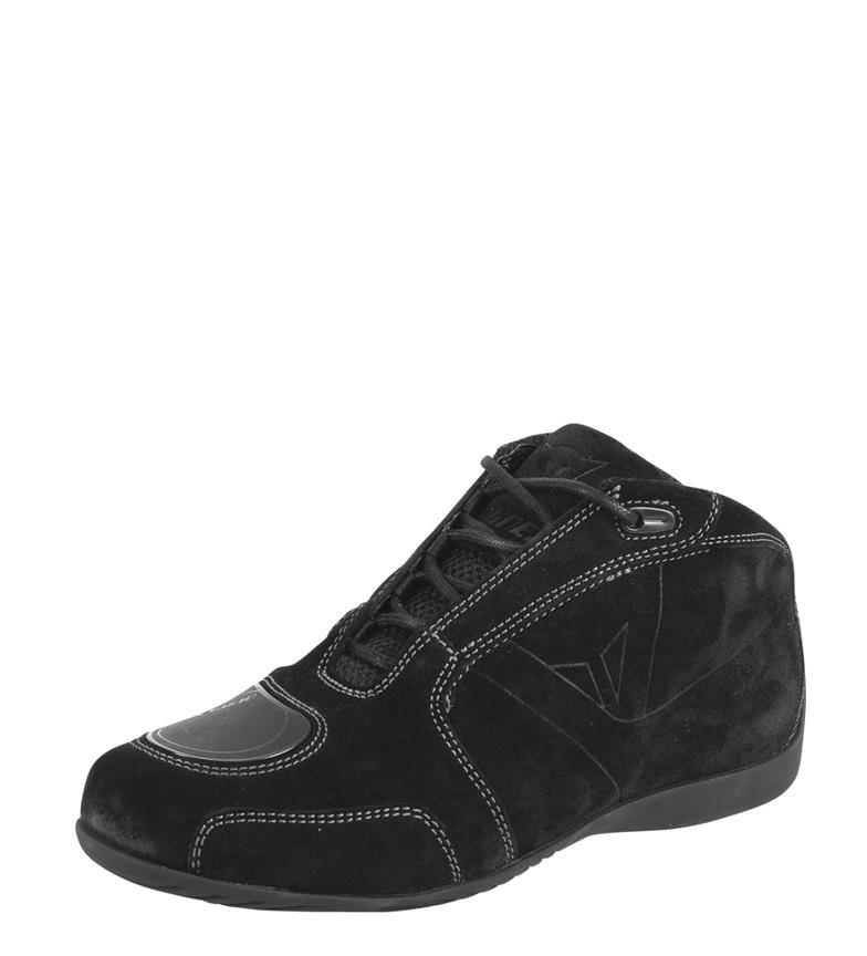 Detalles de Dainese Zapatillas de piel Merida D1 negro Hombrechico Cordones Motociclismo