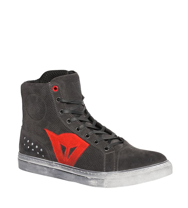 Comprar Dainese Zapatillas de bota en piel Street Biker Air negro medio, rojo