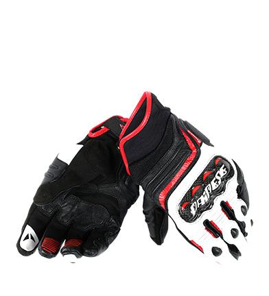 Comprar Dainese Luvas de couro Carbon D1 Curto preto, branco, vermelho