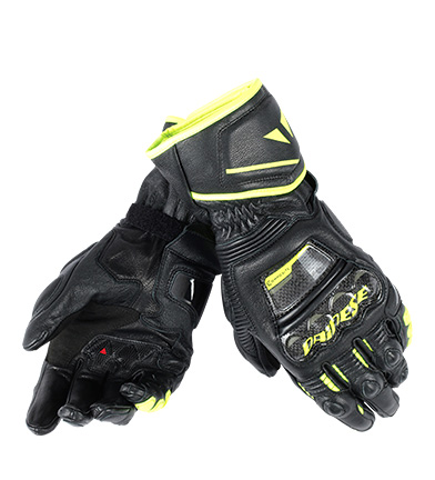 Comprar Dainese Leather gloves Druid D1 Long black, yellow